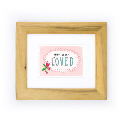 You Are Loved Art Print | Pink
