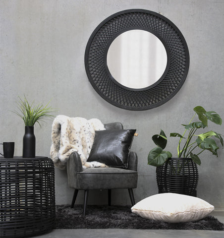 black brooding reading nook