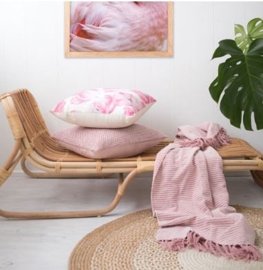 Tropical Escape Style example chair throw cushion interior lifestyle shot
