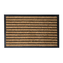 Load image into Gallery viewer, Brush Moulded Coir Mat 45x75cm Stripes
