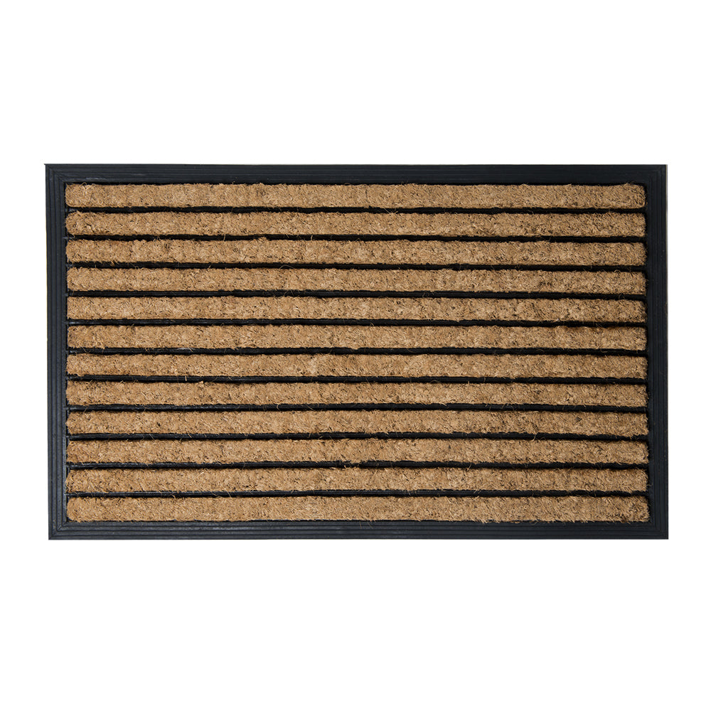 Brush Moulded Coir Mat 45x75cm Stripes