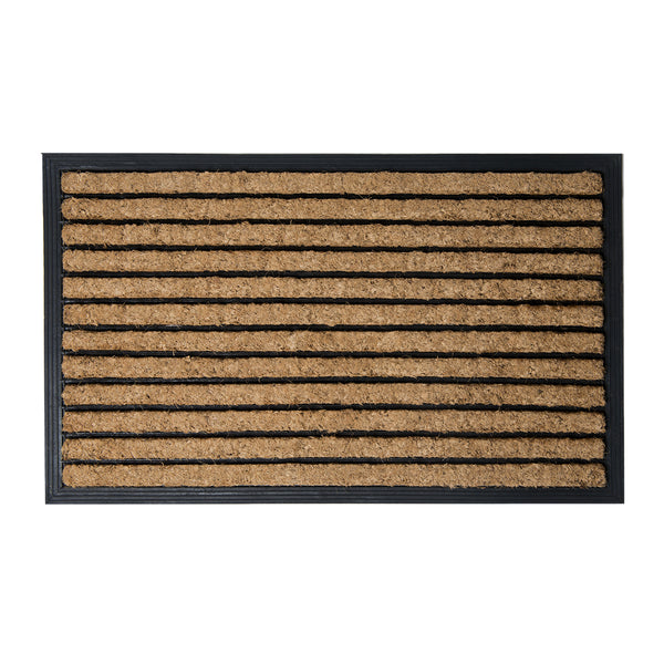 Brush Moulded Coir Mat 45x75cm Stripes ETA: Late September