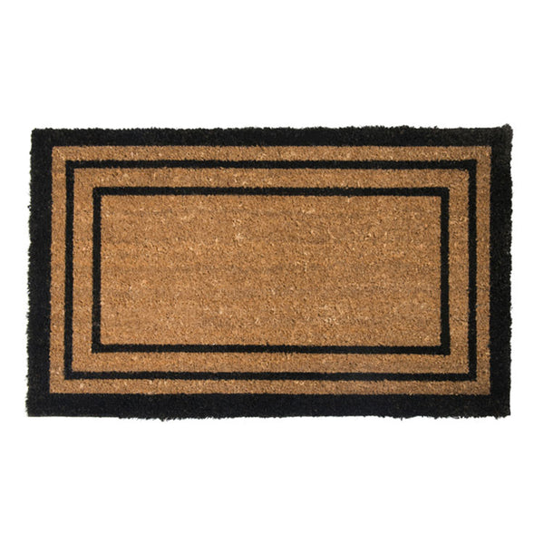 PVC Backed Coir Printed Mat 45x75cm Rectangular Lines ETA: Late September