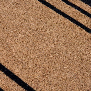 PVC Backed Coir Printed Mat 45x75cm Rectangular Lines
