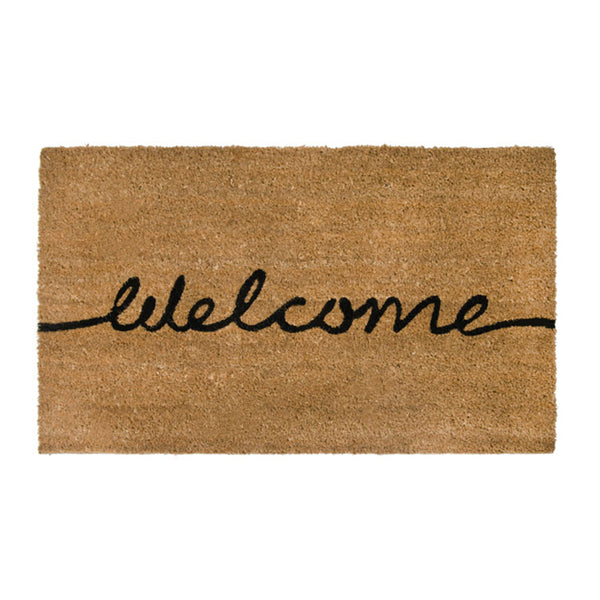 PVC Backed Coir Printed Mat 45x75cm Welcome ETA: Late September