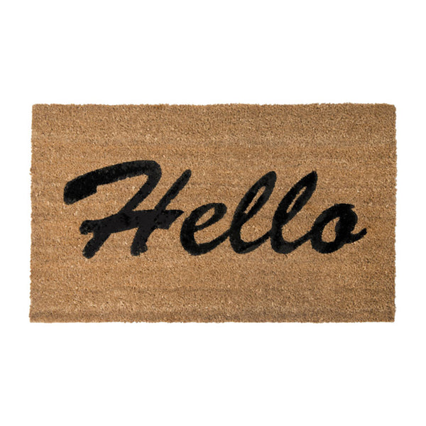 PVC Backed Coir Printed Mat 45x75cm Hello ETA: Late September