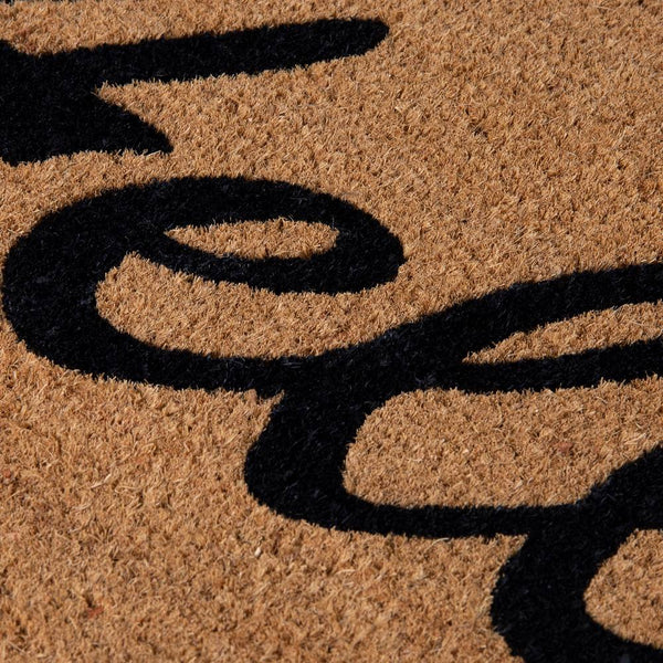 PVC Backed Coir Printed Mat 45x75cm Hello