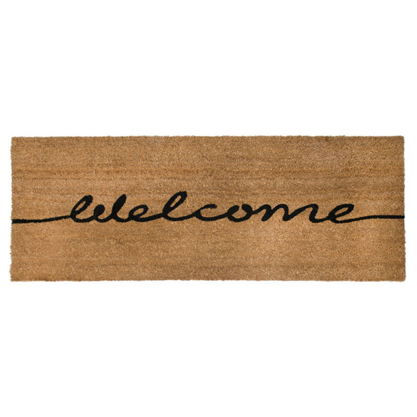 PVC Backed Coir Printed Mat Ranchslider 40x120cm Welcome