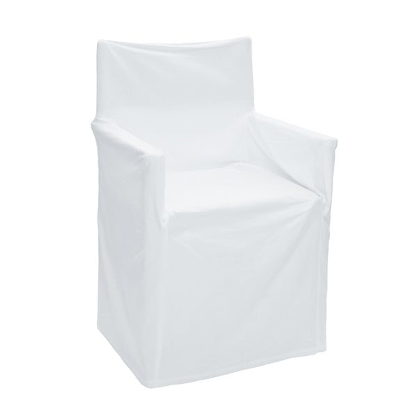 Solid Director Chair Cover White