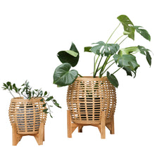 Load image into Gallery viewer, Whittaker Set of 2 Planters 41.3x51cm/30x36cm Natural ETA: Late September