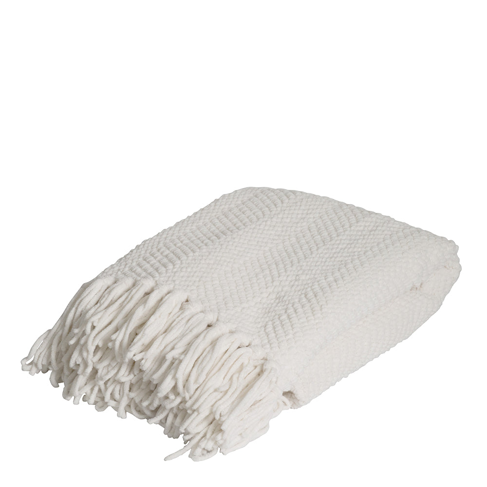 Louie Throw 130x160cm Ivory; ETA March