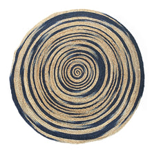 Load image into Gallery viewer, Balo Jute Rug 120cm Natural/Navy