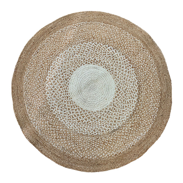 Burleigh Jute Rug 120cm Natural/Ivory ETA: Mid October