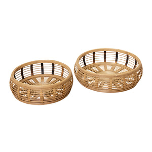 Elsie Set of 2 Bamboo Trays;  ETA Late December