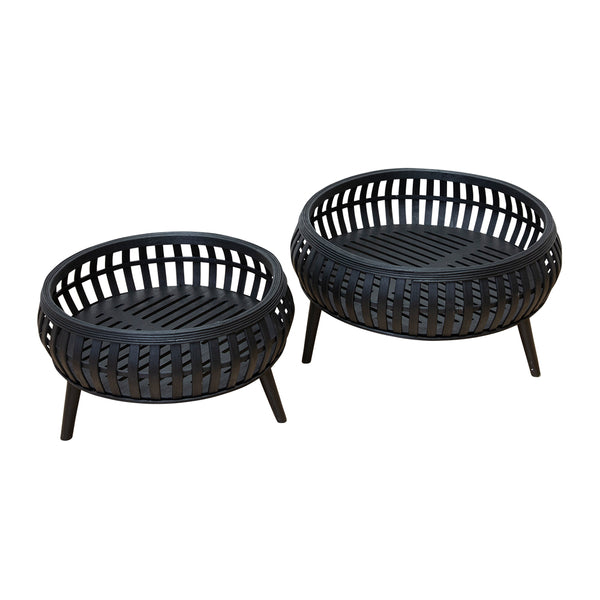 Cora Set of 2 Planters - Black