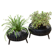Load image into Gallery viewer, Cora Set of 2 Planters - Black