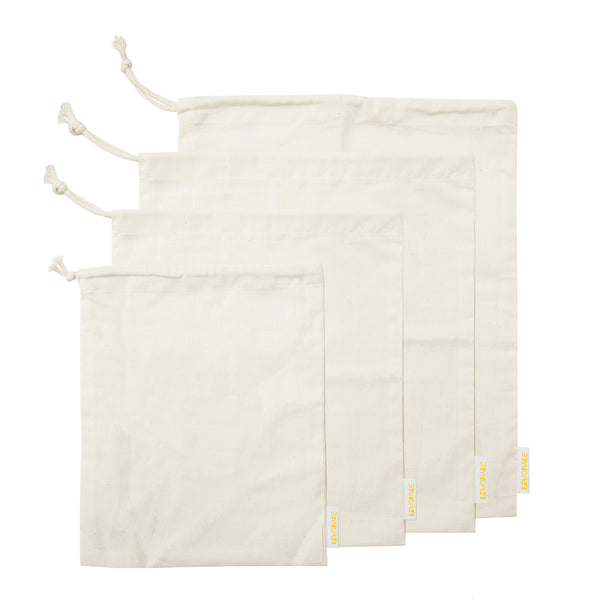 Set of 4 Muslin Produce Bags