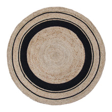 Load image into Gallery viewer, Harrison Rug 120cm Round Black & Natural