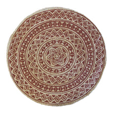 Load image into Gallery viewer, Kendra Printed Rug 120cm Round Burnt Orange/ Natural ETA: Mid October