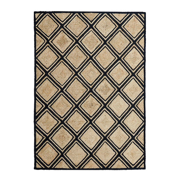 Murphy Rug 160x230cm Natural/Black ETA: Mid October