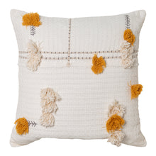 Load image into Gallery viewer, Josie Cushion 50x50cm Ivory/Mustard; ETA Mid December
