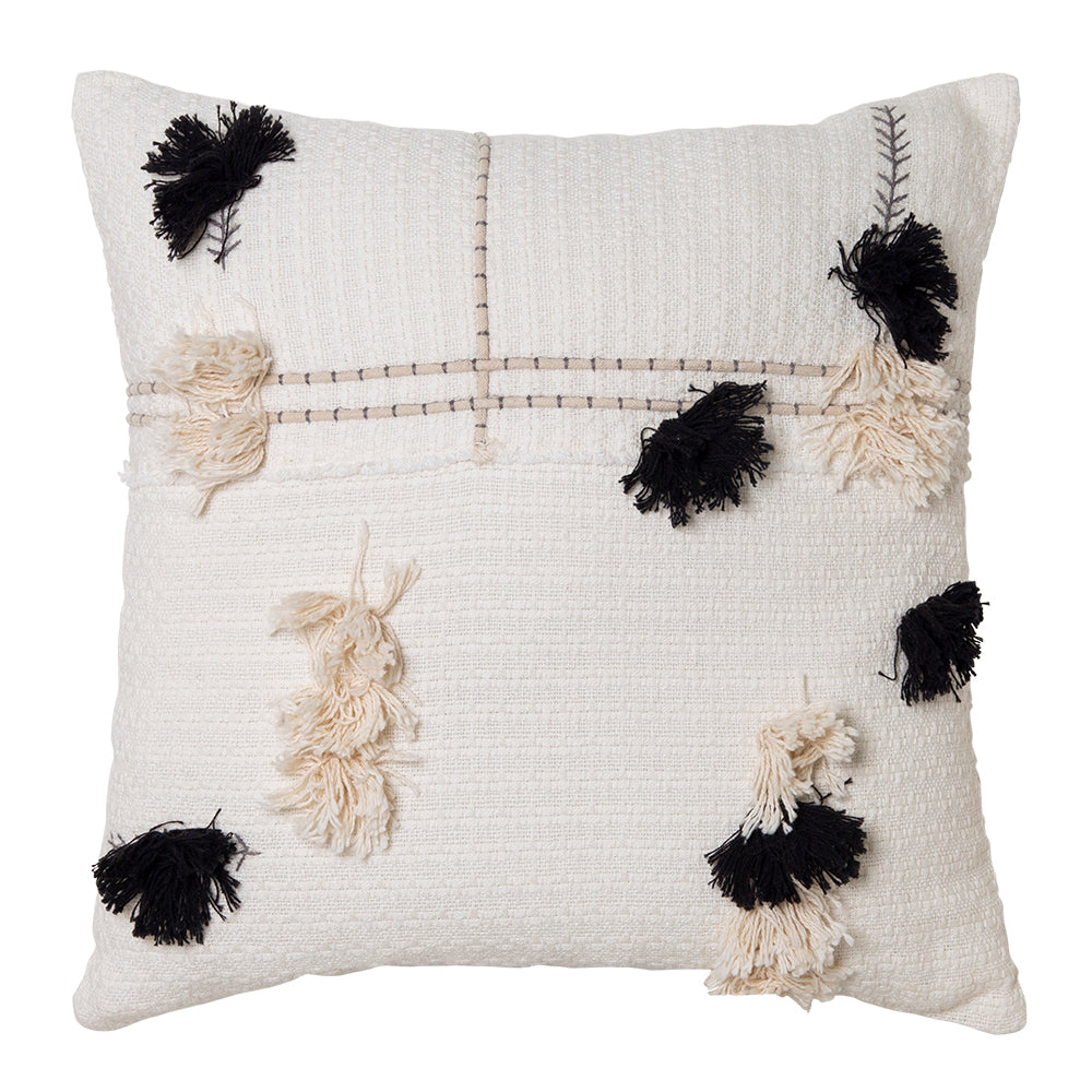 Josie Cushion 50x50cm Ivory/Black