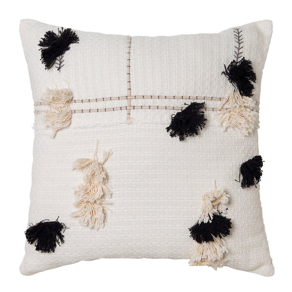 Josie Cushion 50x50cm Ivory/Black; ETA Late November