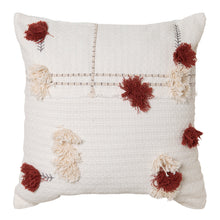 Load image into Gallery viewer, Josie Cushion 50x50cm Ivory/Brick