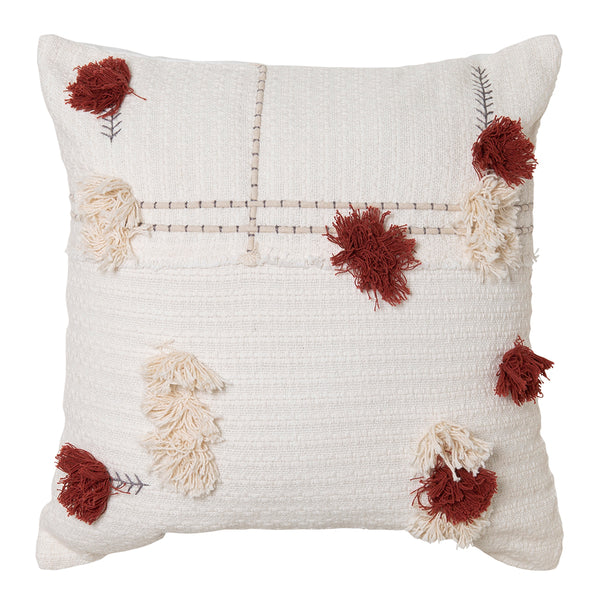 Josie Cushion 50x50cm Ivory/Brick; ETA Late November