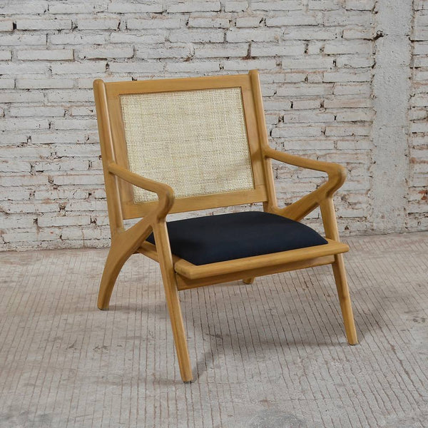 Zadie Chair 67x79x88cm Black & Natural