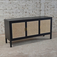 Load image into Gallery viewer, Sanderson 3 Door Sideboard 150x45x76cm Black & Natural; ETA March