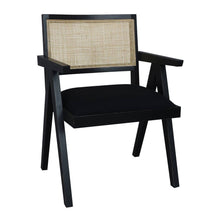 Load image into Gallery viewer, Sanderson Chair 56x53x79cm Black & Natural; ETA March