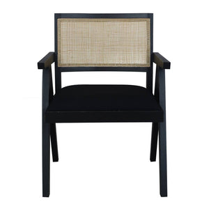 Sanderson Chair 56x53x79cm Black & Natural; ETA March