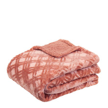 Load image into Gallery viewer, Vida Microplush Throw 130x160cm Clay Pink
