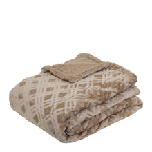 Load image into Gallery viewer, Vida Microplush Throw 130x160cm Sandstone; ETA March