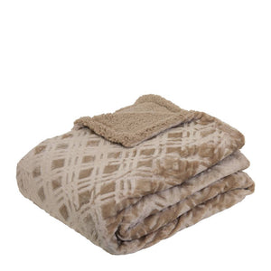Vida Microplush Throw 130x160cm Sandstone; ETA March