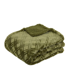 Load image into Gallery viewer, Vida Microplush Throw 130x160cm Olive; ETA March