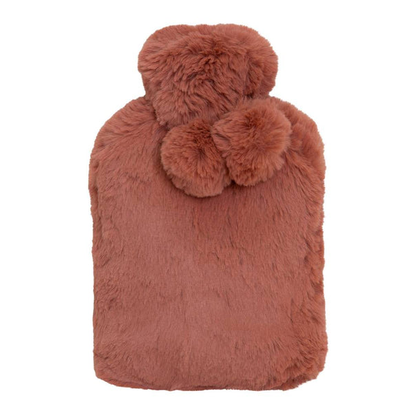 Amara Hot Water Bottle and Cover 37x22cm Clay Pink