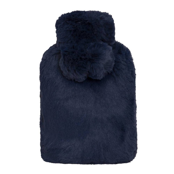 Amara Hot Water Bottle and Cover 37x22cm Navy