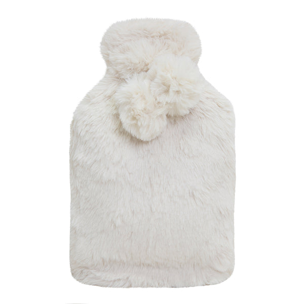 Amara Hot Water Bottle and Cover 37x22cm Ivory