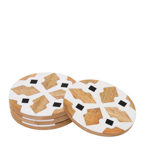 Alyvia Coaster Set of 4 10x10cm Multi; ETA March