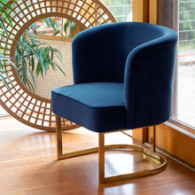 Load image into Gallery viewer, Alana Chair 68x61x78cm Blueberry; ETA Late March