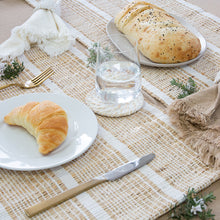 Load image into Gallery viewer, Abella Set of 4 Placemats 33x48cm White/Natural; ETA Late January
