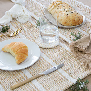 Abella Set of 4 Placemats 33x48cm White/Natural; ETA Late January