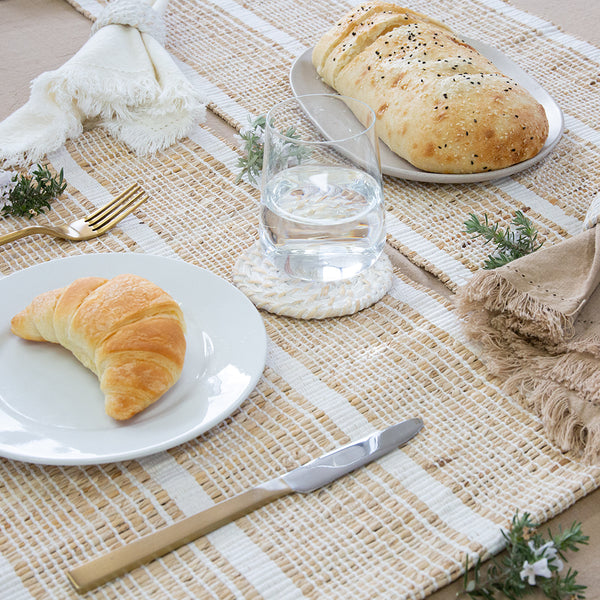 Abella Set of 4 Placemats 33x48cm White/Natural