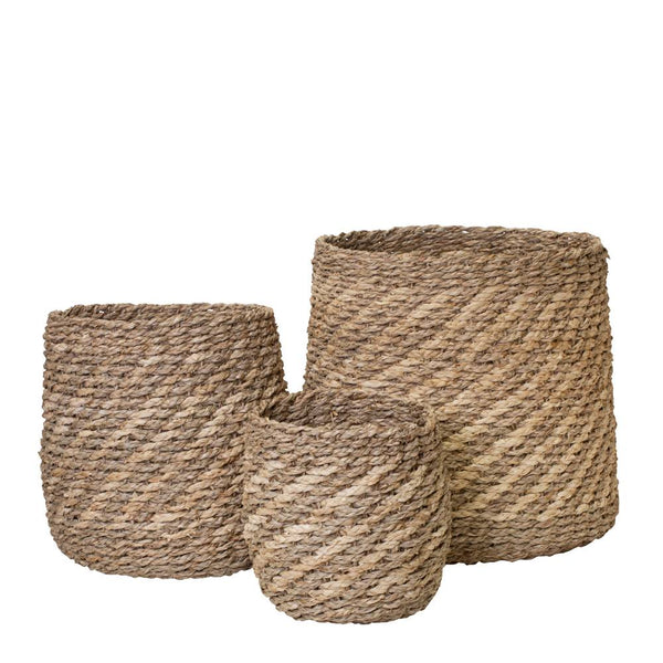 Accra Set of 3 Baskets Natural