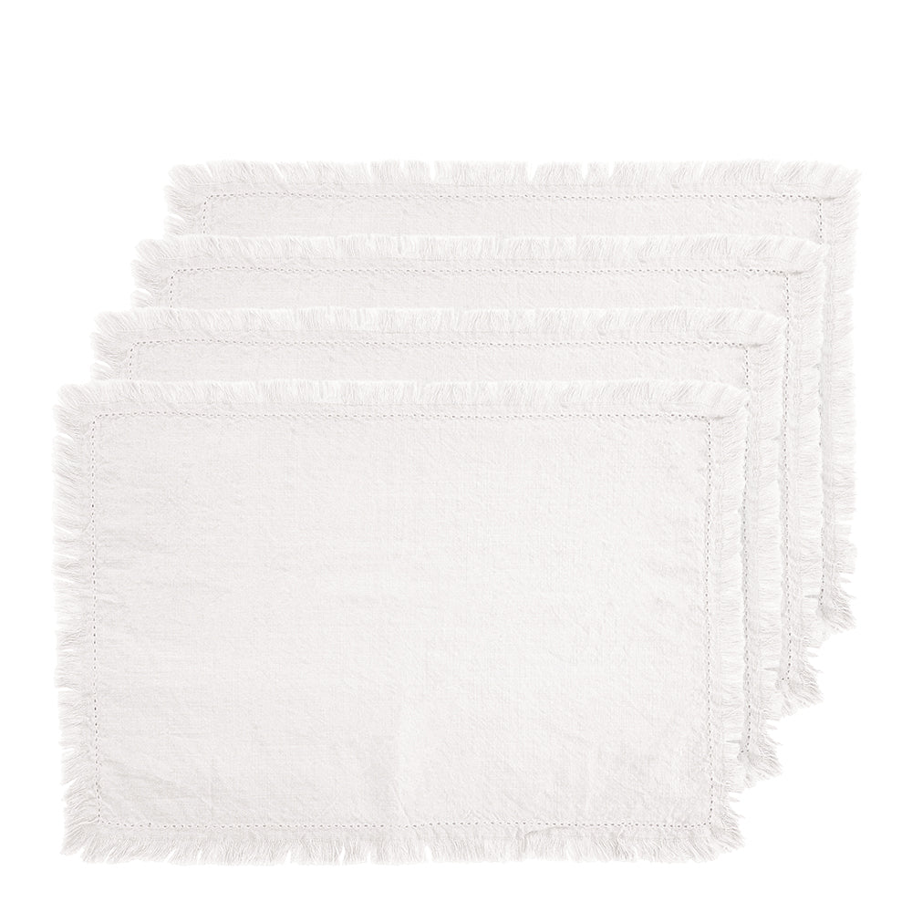 Avani Set of 4 Placemats 33x48cm Ivory