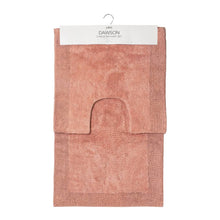 Load image into Gallery viewer, Dawson 2 Piece Bathmat Set 50x50cm & 50x80cm Clay Pink