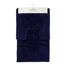 Load image into Gallery viewer, Dawson 2 Piece Bathmat Set 50x50cm & 50x80cm Navy