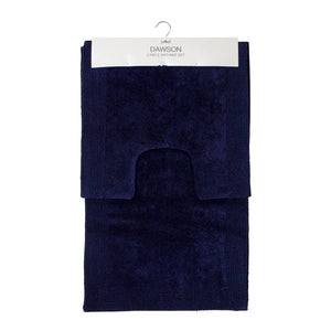 Dawson 2 Piece Bathmat Set 50x50cm & 50x80cm Navy